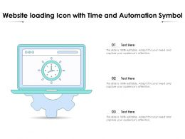 Website Loading Icon With Time And Automation Symbol