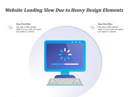 Website Loading Slow Due To Heavy Design Elements