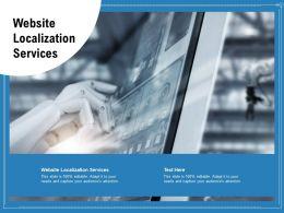 Website Localization Services Ppt Powerpoint Presentation Model Slideshow Cpb