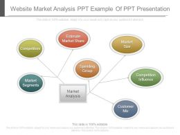 Website Market Analysis Ppt Example Of Ppt Presentation