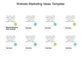 Website Marketing Ideas Template Ppt Powerpoint Presentation Model Visuals Cpb