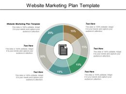 Website Marketing Plan Template Ppt Powerpoint Presentation Model Icons Cpb
