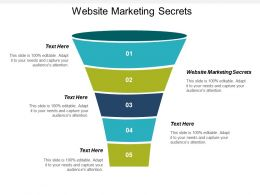 Website Marketing Secrets Ppt Powerpoint Presentation Infographics Icons Cpb