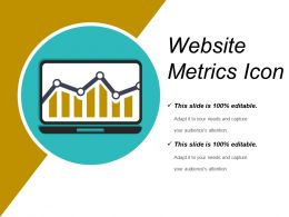 Website Metrics Icon Ppt Diagrams