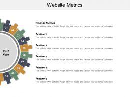 Website Metrics Ppt Powerpoint Presentation Ideas Visual Aids Cpb