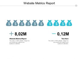 Website Metrics Report Ppt Powerpoint Presentation Pictures Graphic Tips Cpb