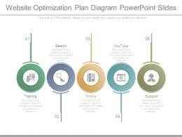 Website Optimization Plan Diagram Powerpoint Slides