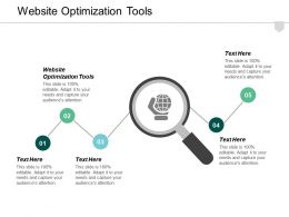 Website Optimization Tools Ppt Powerpoint Presentation Styles Background Designs Cpb