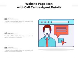 Website Page Icon With Call Centre Agent Details
