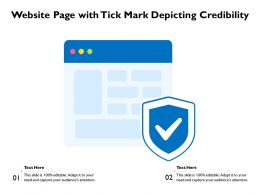 Website Page With Tick Mark Depicting Credibility