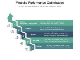 Website Performance Optimization Ppt Powerpoint Presentation Layouts Design Ideas Cpb