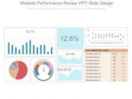 Website Performance Review Ppt Slide Design