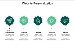 Website Personalization Ppt Powerpoint Presentation Summary Background Cpb