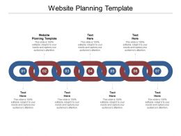 Website Planning Template Ppt Powerpoint Presentation Icon Example Cpb