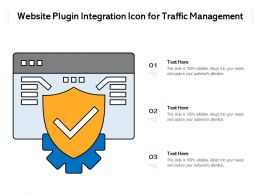 Website Plugin Integration Icon For Traffic Management