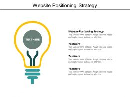 Website Positioning Strategy Ppt Powerpoint Presentation Model Layout Ideas Cpb