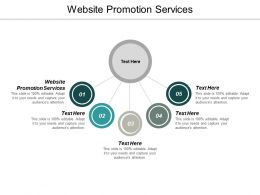 Website Promotion Services Ppt Powerpoint Presentation Infographics Diagrams Cpb