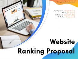 Website Ranking Proposal Powerpoint Presentation Slides
