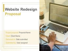 Website Redesign Proposal Powerpoint Presentation Slides