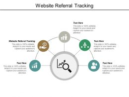 Website Referral Tracking Ppt Powerpoint Presentation Model Maker Cpb
