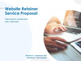 Website Retainer Service Proposal Powerpoint Presentation Slides
