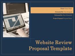 Website Review Proposal Template Powerpoint Presentation Slides