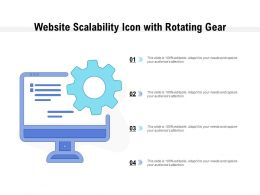 Website Scalability Icon With Rotating Gear