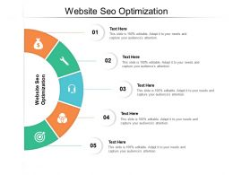 Website SEO Optimization Ppt Powerpoint Presentation Infographic Template Visuals Cpb