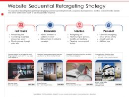 Website Sequential Retargeting Strategy Staircase Best Powerpoint Presentation Outfit