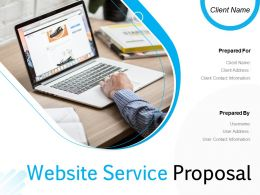 Website Service Proposal Powerpoint Presentation Slides