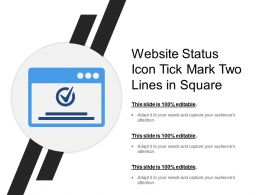 Website Status Icon Tick Mark Two Lines In Square