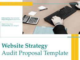 Website Strategy Audit Proposal Template Powerpoint Presentation Slides