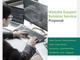 Website Support Retainer Service Proposal Powerpoint Presentation Slides