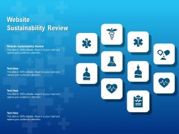 Website Sustainability Review Ppt Powerpoint Presentation Layouts Layout Ideas