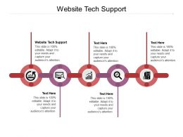 Website Tech Support Ppt Powerpoint Presentation Model Format Cpb