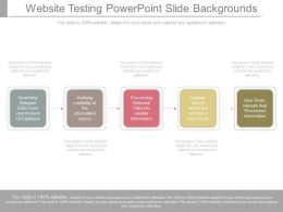 Website Testing Powerpoint Slide Backgrounds