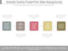 Website Testing Powerpoint Slide Backgrounds