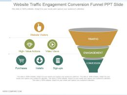 Website Traffic Engagement Conversion Funnel Ppt Slide