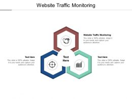Website Traffic Monitoring Ppt Powerpoint Presentation Icon Slideshow Cpb