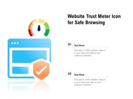 Website Trust Meter Icon For Safe Browsing