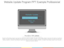 Website Update Program Ppt Example Professional
