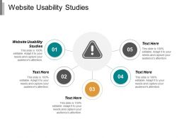 Website Usability Studies Ppt Powerpoint Presentation Portfolio Tips Cpb