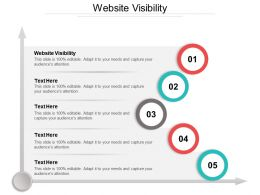 Website Visibility Ppt Powerpoint Presentation Gallery Topics Cpb