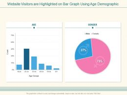 Website Visitors Are Highlighted On Bar Graph Using Age Demographic