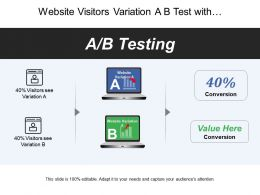 Website Visitors Variation A B Test With Conversion