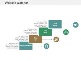 Website watcher Ppt Powerpoint Presentation Portfolio Design Inspiration Cpb