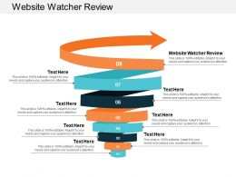 Website Watcher Review Ppt Powerpoint Presentation Gallery Graphic Tips Cpb