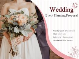 Wedding Event Planning Proposal Powerpoint Presentation Slides