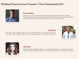 Wedding Planner Service Proposal Client Testimonials L2065 Ppt Powerpoint Images