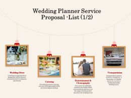 Wedding Planner Service Proposal List L2066 Ppt Powerpoint Presentation Download